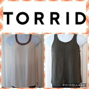 Torrid bundle size 00 cami/tank